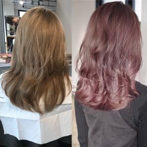 2018 春夏 ヘアカラー ピンク
